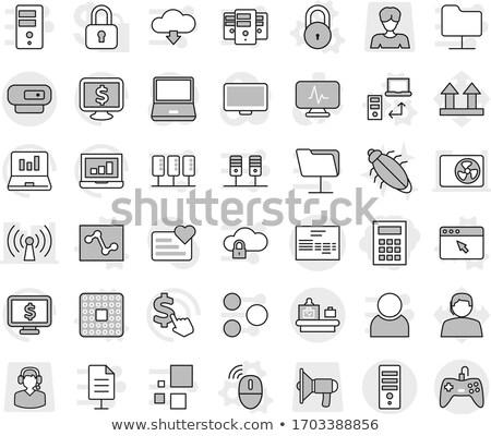 Ordinateur cpu dollar ligne ecommerce Photo stock © devon