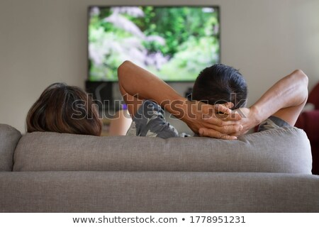 Couple unwinding at home Stock photo © photography33