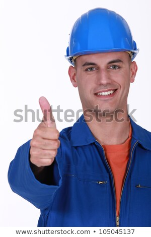 Plumber the giving the go-ahead Stock photo © photography33