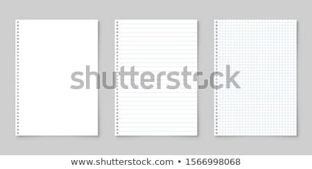 bir · levha · defter · beyaz · iş · kitap - stok fotoğraf © grafvision
