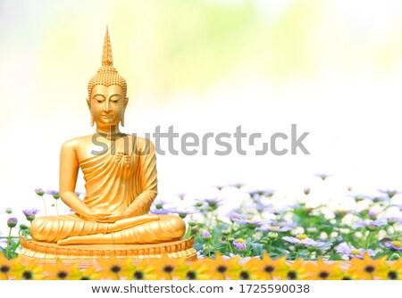 Buda dorado antigua tailandés arte textura Foto stock © sippakorn