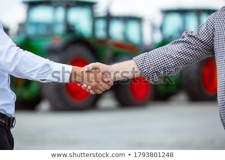 çiftlik hasat çim ağaçlar çatal traktör Stok fotoğraf © samsem