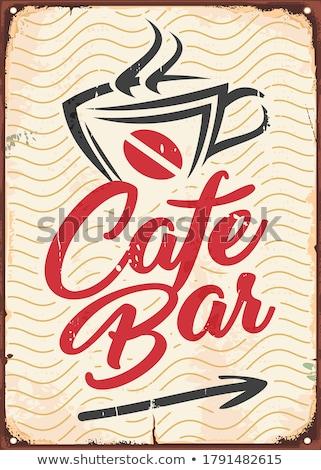 Café seta preço crescente grãos de café comida Foto stock © samsem