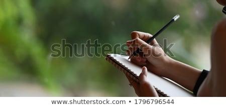 afro-amerikaanse · zakenvrouw · vrouw · hand · werk - stockfoto © photography33