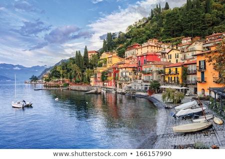 göl · İtalya · gökyüzü · su · güneş - stok fotoğraf © haraldmuc