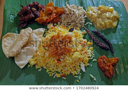 indian banana leaf meal Stock photo © yuliang11
