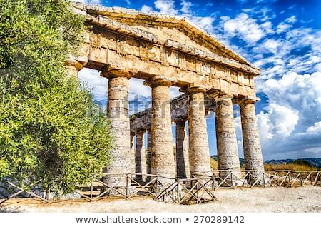 świątyni sycylia Włochy niebo chmury budynku Zdjęcia stock © boggy