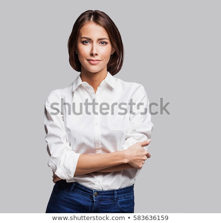 Pretty serious woman Stock photo © danienel