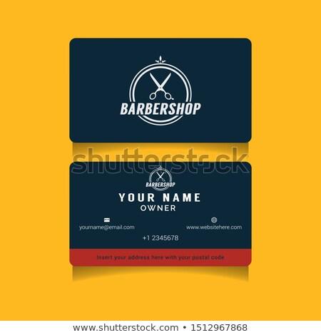 business · ingesteld · Blauw · goud · golf · visitekaartje - stockfoto © vipervxw
