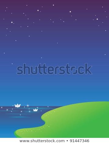 Живопись · пейзаж · синий · небе · лет · цветок - Сток-фото © zzve