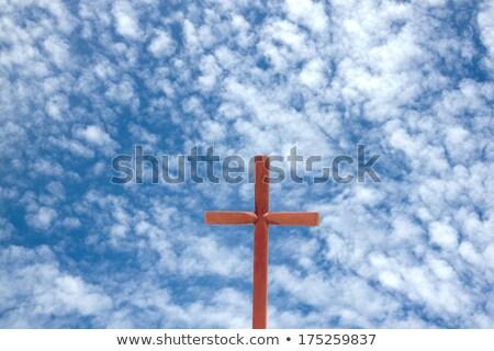 crucifijo · cruz · pecado · oscuridad · alrededor · sangre - foto stock © taigi