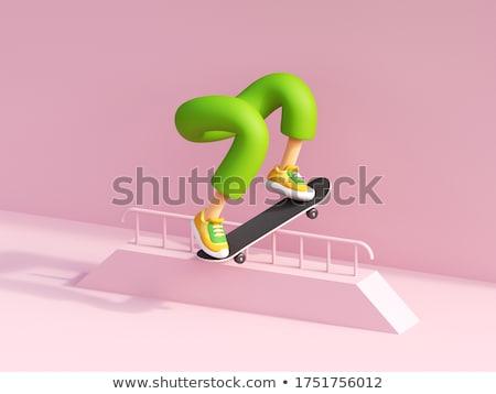 3D скейтбордист изолированный белый человека спорт Сток-фото © Kirill_M