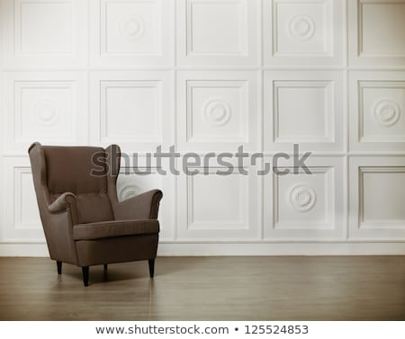 One classic armchair against a wall and floor Stock photo © dashapetrenko