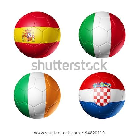 piłka · nożna · piłka · nożna · piłka · Brazylia · banderą · 3D - zdjęcia stock © daboost