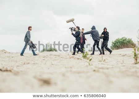 professional film camera on the boom Stock photo © tarczas