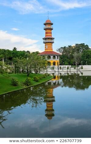 kraliyet · konut · kule · Taylandlı · yaz · saray - stok fotoğraf © meinzahn