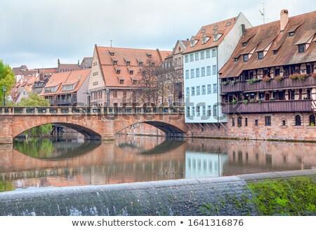 берег реки исторический домах Германия дома дерево Сток-фото © manfredxy