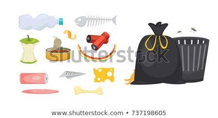 Blue plastic garbge disposal bags Stock photo © stevanovicigor