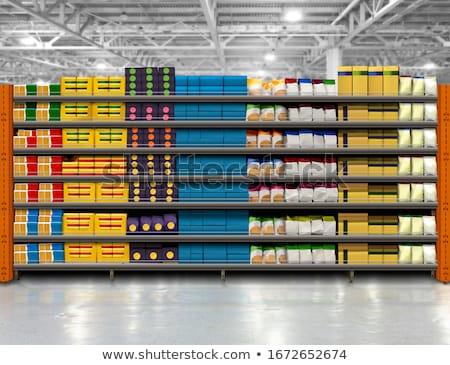 Satış süpermarket iş alışveriş depolamak Stok fotoğraf © bmonteny