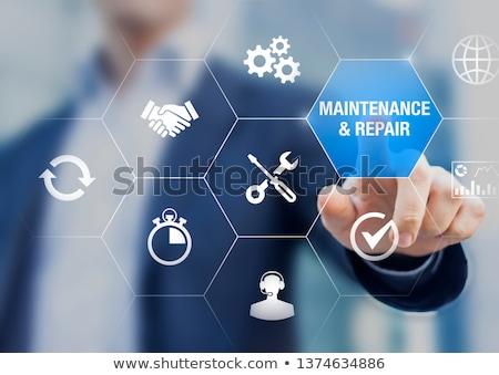 Dienst reparatie onderhoud elektronische metaal communicatie Stockfoto © OleksandrO