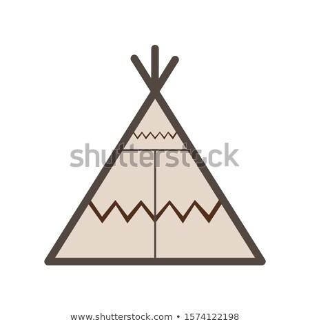 Indian wigwam Stock photo © mayboro