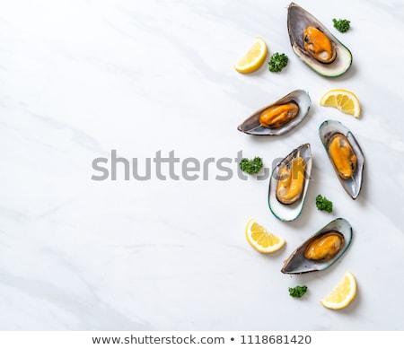 петрушка продовольствие таблице морепродуктов французский кулинарный Сток-фото © M-studio
