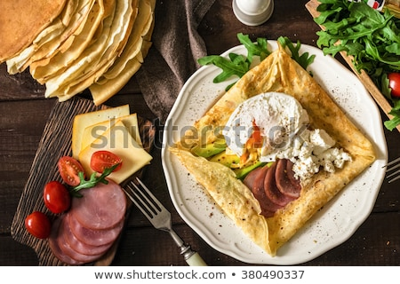 crepe · bolo · ingrediente · cozinha · gastronomia - foto stock © m-studio