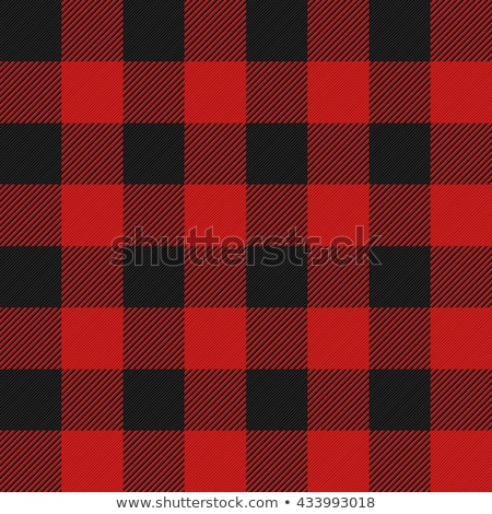 Tiled Red and Black Flannel Pattern Illustration Stock photo © enterlinedesign