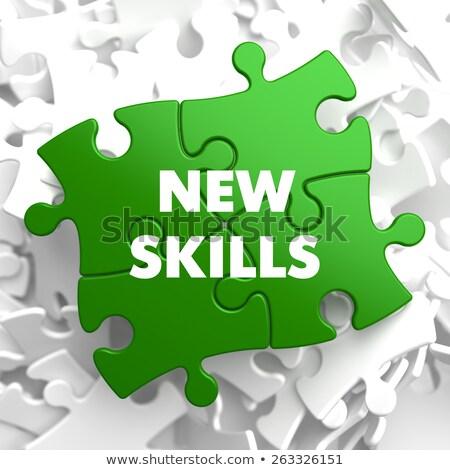 Novo habilidades verde quebra-cabeça branco educação Foto stock © tashatuvango