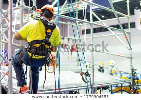 endüstriyel · mavi · beyaz · inşaat · soyut - stok fotoğraf © all32