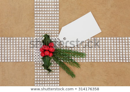 Bling and Holly Gift Wrapping Stock photo © marilyna