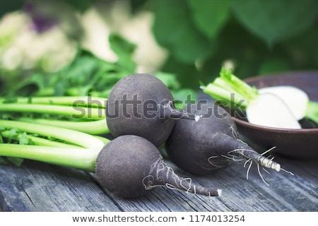 черный редис домохозяйка женщину Сток-фото © fuzzbones0