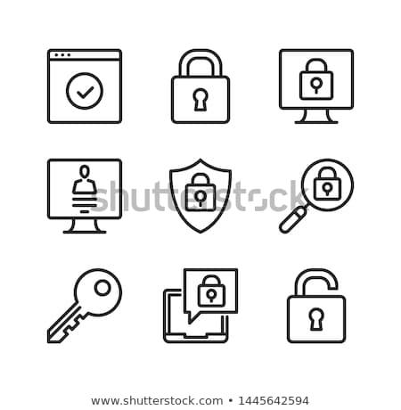 Computador trancar moderno rede símbolos negócio Foto stock © JanPietruszka