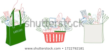 basket with fresh greens stock photo © manera