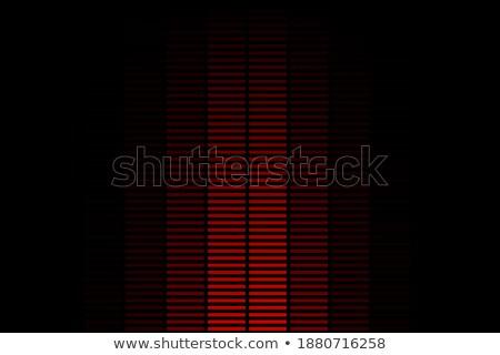 赤 垂直 幾何学的な 3D レイヤード ストックフォト © Zebra-Finch