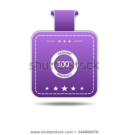 подлинный продукт фиолетовый вектора икона дизайна Сток-фото © rizwanali3d