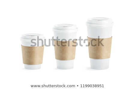 Coffee in a paper holder and cup  Stock photo © mady70