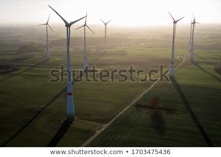 szélfarm · csetepaté · szél · erő · égbolt · mező - stock fotó © cherezoff