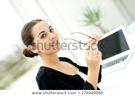довольно деловая женщина очки для чтения портрет служба работу Сток-фото © wavebreak_media