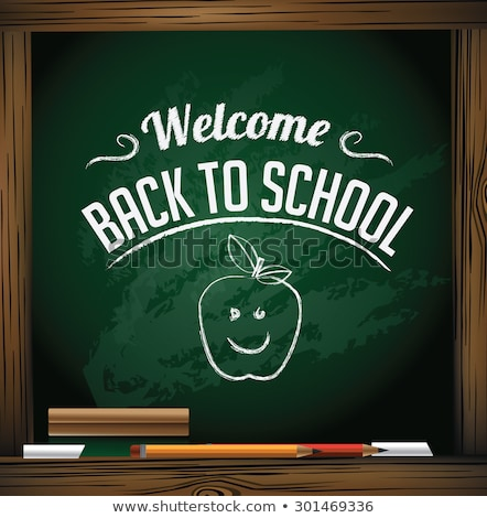 back to school sign eps 10 stock photo © beholdereye