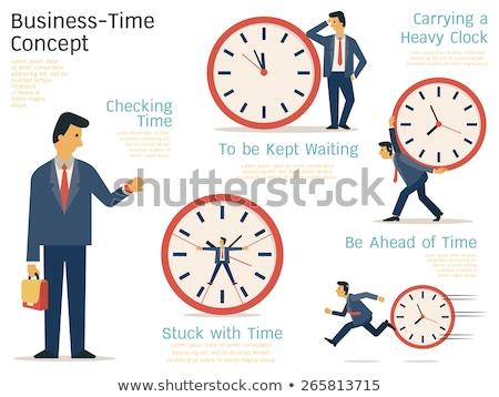 Idő üzlet üzletember alkalmazott húz nehéz Stock fotó © Lightsource