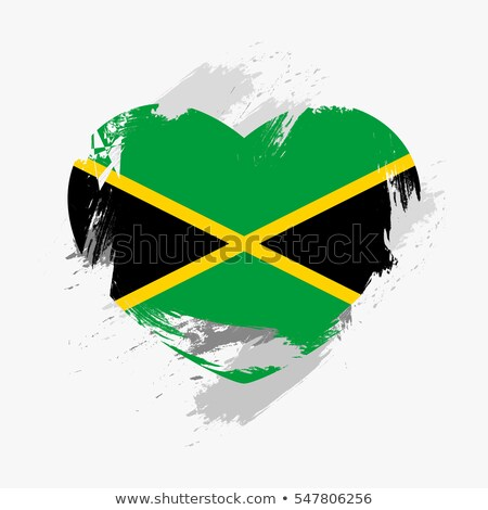Foto stock: Jamaica · corazón · bandera · icono · amor · símbolo