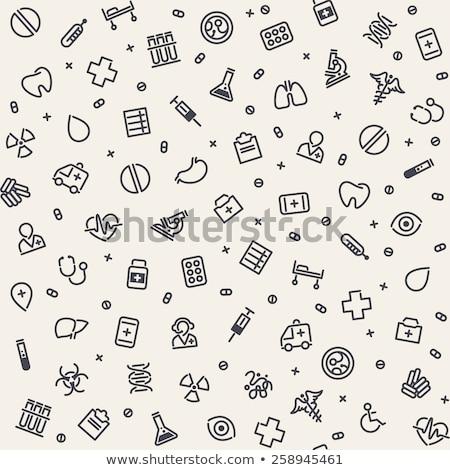 seamless pattern medical icons set stock photo © netkov1