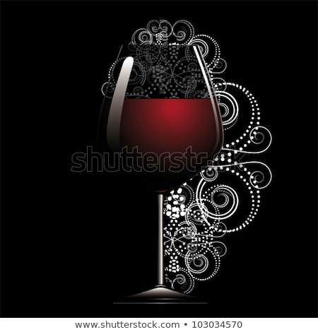 wine glass in grey back Stock photo © prill