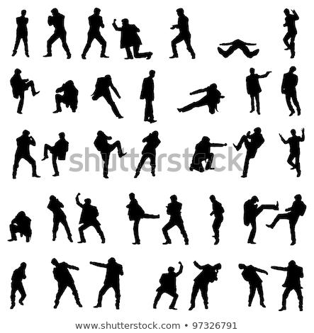 Boxeur affaires vecteur silhouette eps 10 Photo stock © Istanbul2009