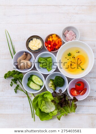 homemade omelet with ingredient Stock photo © M-studio