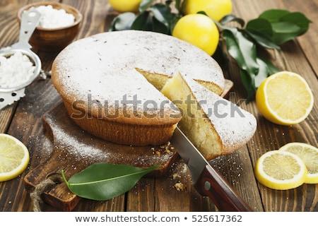 citroen · boter · cake · plakje · foto · natuurlijke - stockfoto © digifoodstock