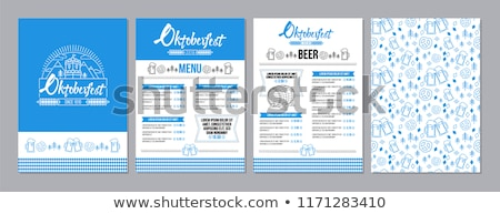 oktoberfest · menu · illustratie · grappig · beker · cool - stockfoto © adrenalina