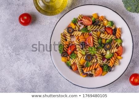 пасты томатный брокколи обеда Сток-фото © M-studio
