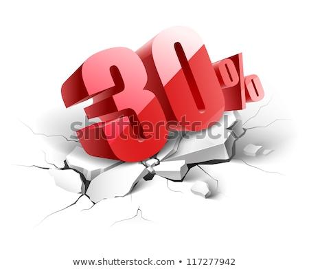 30 · százalék · ikon · kék · fehér · telefon - stock fotó © sayver